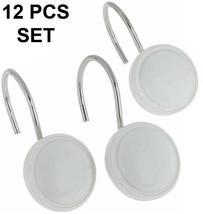 "Carnation""color round"" Ceramic Resin Shower Curtain Hook,White,12 Pcs,PH... - $19.79"