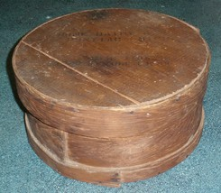 Antique Round Wooden Cheese Box By Home Dairy Pontiac Michigan - VERY RA... - $53.34