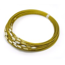 10 Gold Neck Wires Stainless Steel Choker Neckwires Wholesale Screw Clas... - $5.99