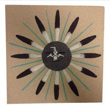 Navajo Sand Painting Signed Native American Art Original Small Sun Eagle... - $34.65