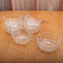 8 Vintage Clear Glass Small Bowls With Straight Edges - $32.71