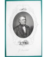 ZACHARY TAYLOR President - 1856 Portrait Print Ornamental Border - $16.20