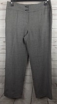 Talbots Pants Trousers Size 12 Black White Wool Blend - $18.99
