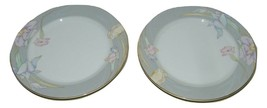 2 Vintage Mikasa Charisma Gray Salad Plate Grey 14832 - $29.69