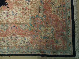11x17 Navy Blue Handmade Open Field Durable Fine Original Persian Rug image 7