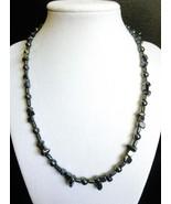 "18 1/2"" Genuine Hematite stone necklace - $69.00"