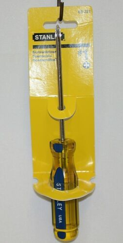 Stanley 65321 Phillips Head Screwdriver Yellow Blue Handle