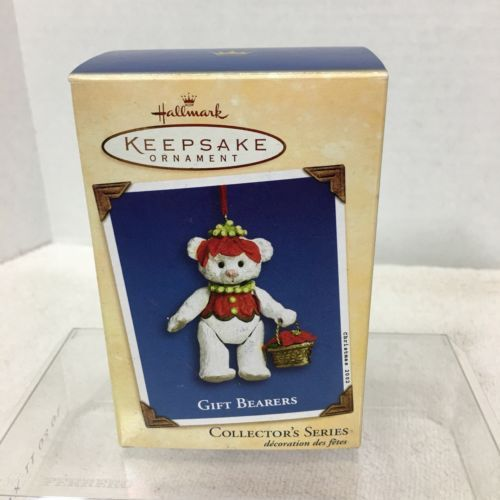Primary image for 2002 Gift Bearers #4 Poinsettia Hallmark Christmas Tree Ornament MIB PriceTag H2