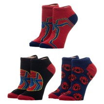 Avengers Iron Spider Spiderman Spider-Man Marvel Comics 3 Pack Ankle Soc... - $15.00