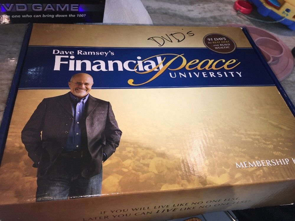 Primary image for Dave Ramsey's Financial Peace University Home Study Kit DVDs CDs Budgeting New
