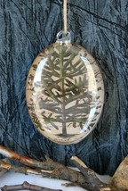Pottery Barn Decoupage Tree Glass Ornament -NIB- Just What You Need Fir Noel! - $17.95