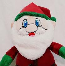 "Santa Claus Plush Christmas Doll Kellytoy 13"" Red Coat Green Pants Stuffed - $15.78"
