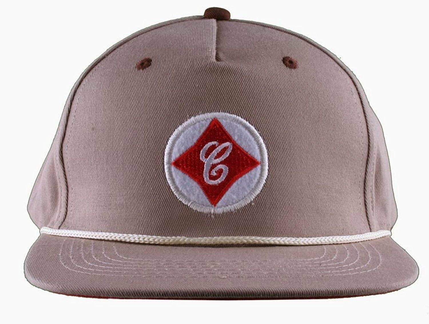Cousins SportsWear Men's Cook County Leather Strapback Baseball Hat Cap NWT