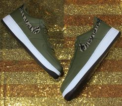 Nike Air Force 1 One Low AOP Basketball Shoes Olive-Green/White [AQ4131-200]- 13 image 3