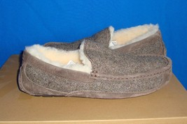 Ugg Australia Men's Ascot Tweed Moccasin Slippers Size Us 8 New #1005347 - $56.38
