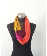 Color block women's infinity cowl scarf  - $12.00