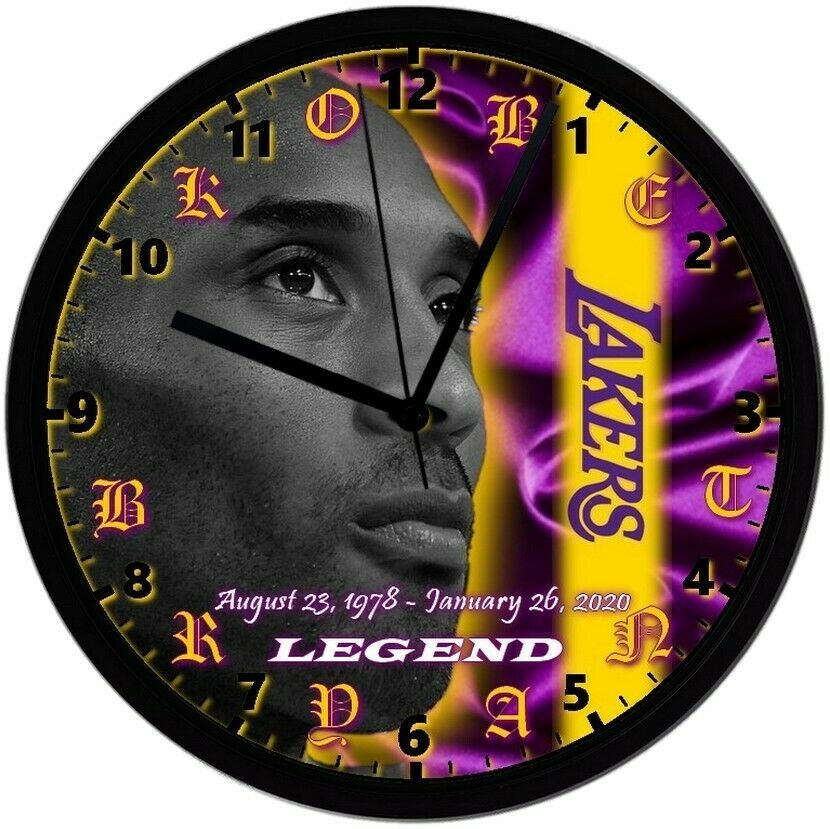 KOBE BRYANT 8in. Unique Homemade Wall Clock, Battery Included, Free Shipping! - $23.97