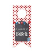 Baby Q It's a Boy Baby Shower Personalized Water Bottle Hang Tag - $26.24