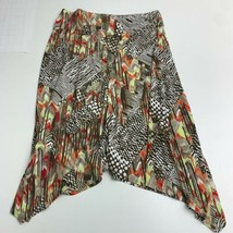 Chico's Pull On Skirt Women's XL Multicolor Stretch Knit Mid Rise Asymme... - $17.99