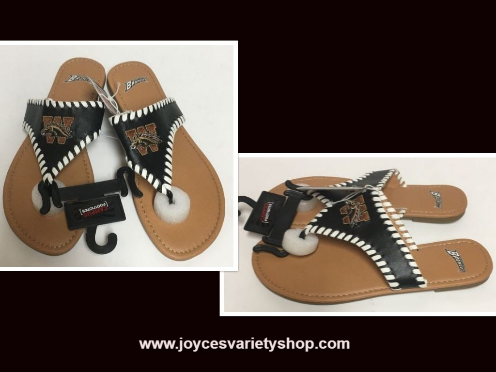 Primary image for Western Michigan Broncos Women's Flip Flops Sandals Shoes Many Sizes