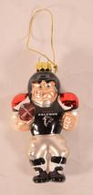 Atlanta Falcons Santa Football Glass Ornament - $21.78