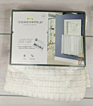 "Threshold Tiered Window Curtain Light-Filtering Honeycomb White 42"" W 63"" L - $14.96"