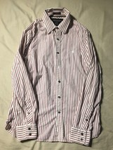 American Eagle Outfitters Candy Striped Premium Vintage Fit Dress Shirt ... - $167,67 MXN