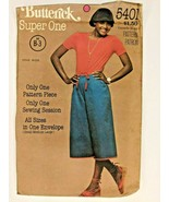 Vintage Butterick All Sizes Sewing Pattern 5401 Womens Culottes Below Mi... - $9.70