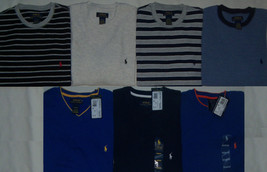 New Mens Polo Ralph Lauren Waffle Thermal V-Neck or Crew Long Sleeve Shirt - $28.05+