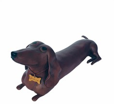 Dachshund sculpture figurine Angie Jestila Fau-Paw Roscoe puppy dog door... - $94.05
