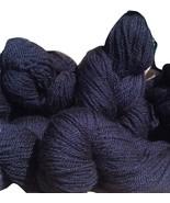 True Black 100% Alpaca yarn 3 Ply 4 oz DK/Worsted/Sport Weight 200yds pe... - $22.00