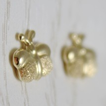 18K YELLOW GOLD EARRINGS MINI BUTTERFLY, SATIN FOR KIDS CHILD MADE IN ITALY image 2
