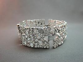 Vintage Emmons Bracelet Filigree Silver Couture Wide Links Open Work Excellent - $22.76