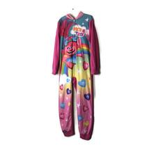 Dreamworks Trolls Girls Size 8 One Piece Pajama Hooded Pink Flame Resist... - $16.79