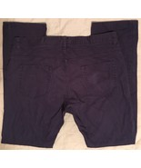 H&M Hennes & Mauritz Button Fly Dark Navy Blue Casual Pants Denim Jeans ... - $24.99