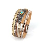 Bracelets For Women Leather Bracelet With Antique High Quality Bohemian ... - $6.36