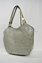 Brahmin Marianna Tote / Shoulder Bag in Silver Sage Melbourne Embossed L... - $269.00
