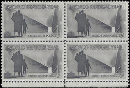 1960 World Refugee Year Block of 4 US Postage Stamps Catalog Number 1149 MNH