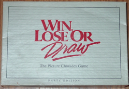 WIN LOSE OR DRAW GAME PARTY ED 1988 MILTON BRADLEY #4710-l1 COMPLETE EXC... - $15.00