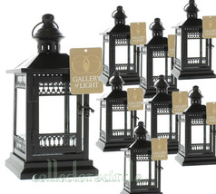 Lot of 8 Victorian Black Garden Wedding Candle Lanterns Party Events - $117.95