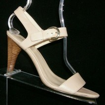 Nine West 'Mary Beth' pink leather buckle ankle strap sandal heels 9M 7521 - $23.95