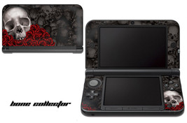 Skin Decal Wrap for Nintendo 3DS XL Gaming Handheld Sticker 12-15 BONES BLACK - $13.81