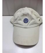 VW Volkswagon Baseball Cap Truckers Hat Off White Cotton 22603 - $21.37