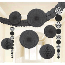 Damask Wedding Decorating Kit-Black - $16.14