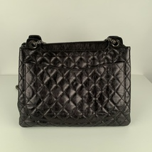 Authentic Chanel Black Quilted Leather Large Reissue 2.55 Accordion Flap Bag image 5