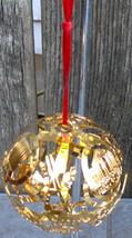 Culinary Institute America 1946 Gold Filigree Metal Ornament - $14.00