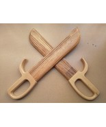 N 3 natural wooden dummy wing chun butterfly swords double knife bart cham dao martial thumbtall