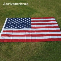 90x150cm American Flag High Quality Double Sided Printed Polyester Grom... - $5.99