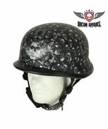 Grey Flat Skull Graveyard German Novelty Helmet Motorcycle Biker Small -... - $38.99