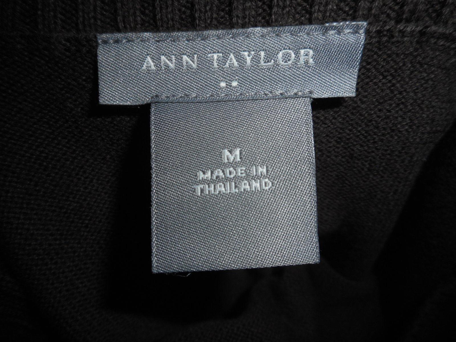 Ann Taylor 100% cotton Brown boatneck Sweater Size M